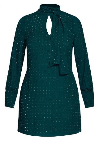 Nailhead Tunic - emerald