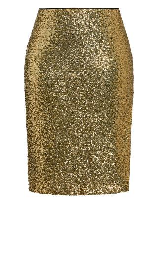 Bronzed Skirt - bronze
