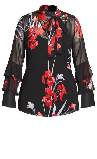 Iris Love Shirt - black