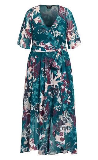 Envelop Me Maxi Dress - teal