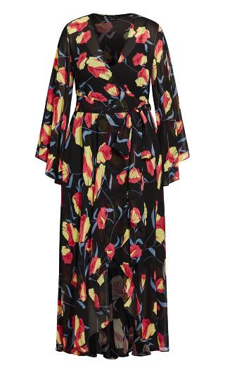 Vixen Maxi Dress - black