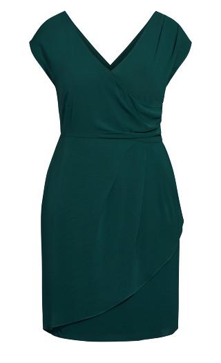 Classic Wrap Dress - sea green