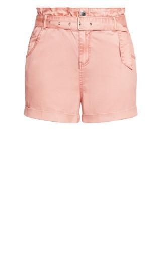 Waist N Belt Shorts - peony