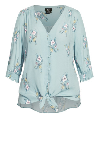 Cool Posy Top - teal