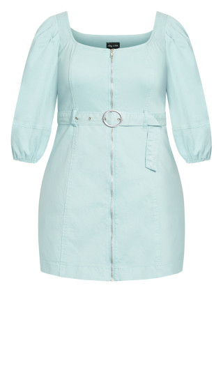 Cool Denim Dress - mint