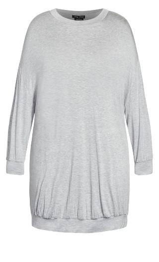 Molly Long Sleeve Tunic - grey