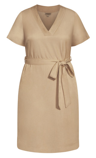 Refined Denim Dress - stone denim