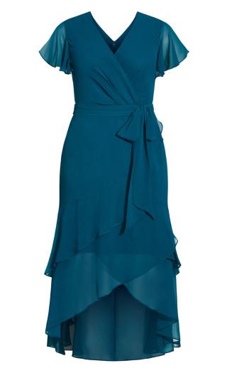 Flirty Tier Maxi Dress - teal