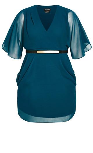 Colour Wrap Dress - teal