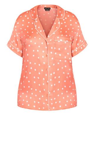 Kitty Short Sleeve Shirt - terracotta