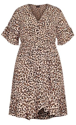 Prowess Swish Dress - leopard
