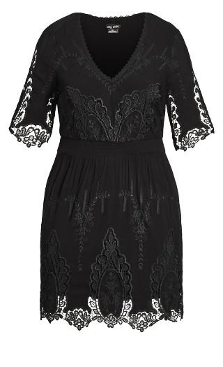 Lust Crochet Dress - black