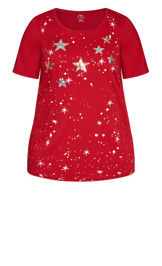 Star Top - red