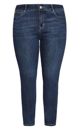 Fashion Skinny Jean Dark Wash - average