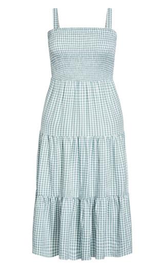 Gingham Maxi Dress - mint
