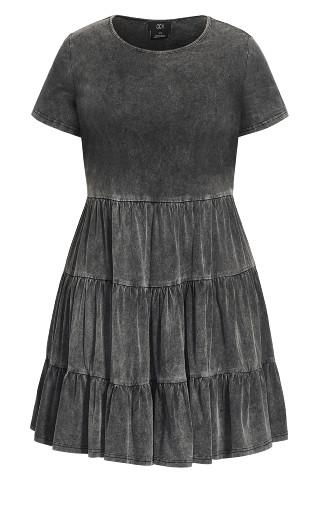 Tiered Love Dress - grey