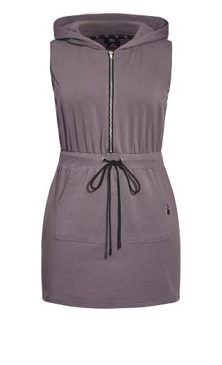 Double Time Sleeveless Dress - granite