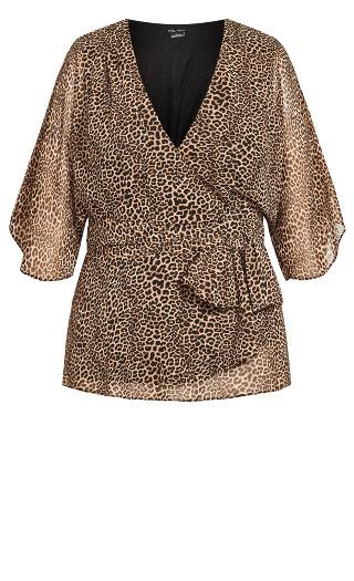 Wrap Leopard Top - leopard