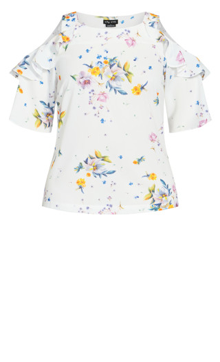 Summer Rose Top - white
