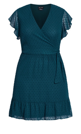 Dobby Tie Dress - alpine