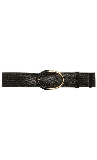 Weave Waist Belt - black