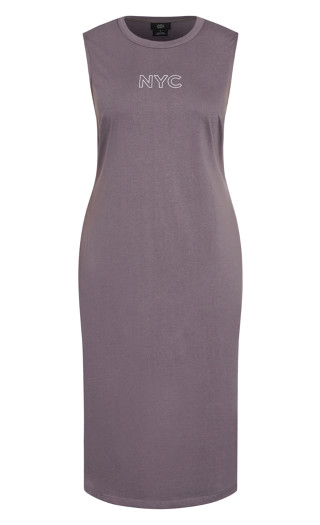 NYC Midi Dress - granite