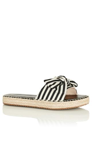 Meline Slide - ivory stripe