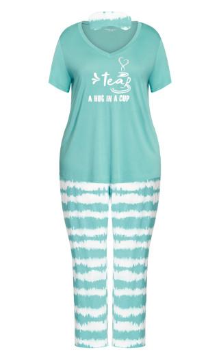 Tie Dye Sleep Set -  teal