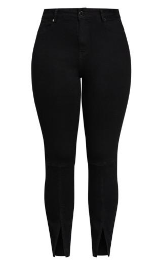 Harley Split Front Jean - black wash