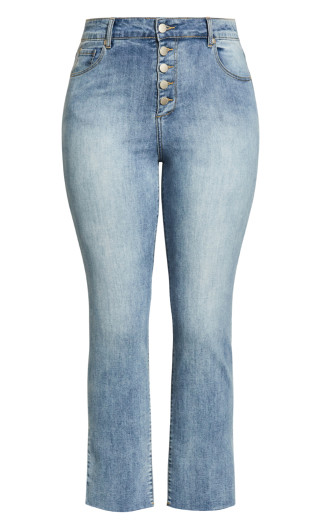 Simple Fray Jean - stone wash