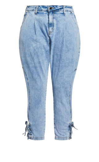 Tapered Jogger Jean - light blue