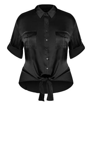 Blouse About Shirt - black