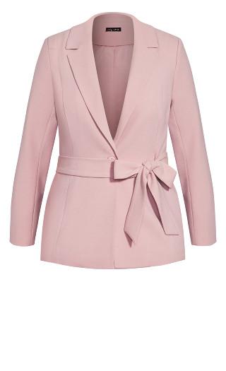 So Elegant Jacket - dusty rose