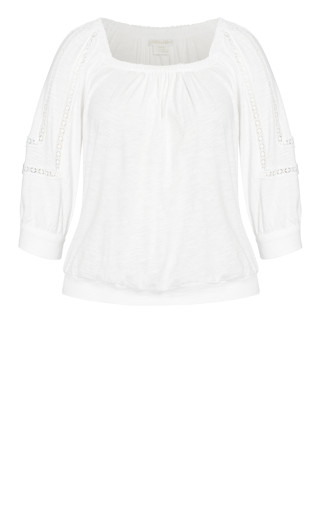 Enchanted Embroidered Top - ivory