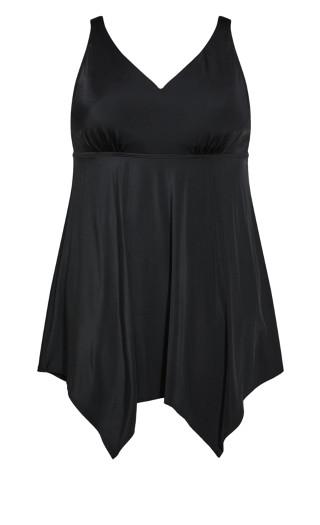 Basic Swim Dress - black