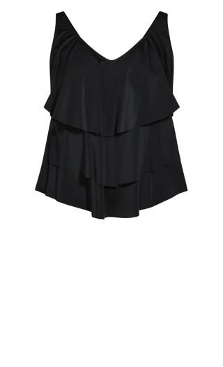 Nautical Tankini Top - black