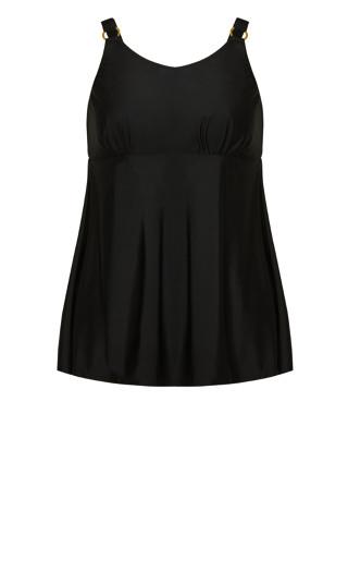 Ring Swim Dress - black