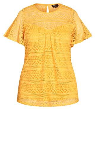 Serenity Short Sleeve Top - golden