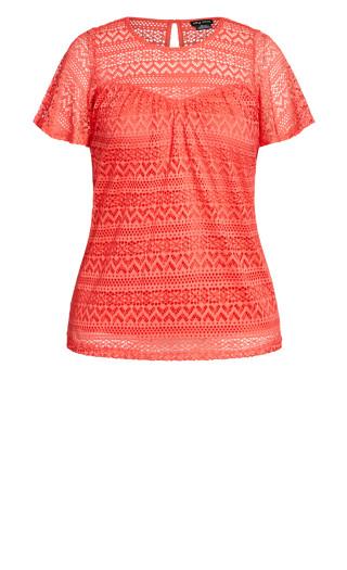 Serenity Short Sleeve Top - orange