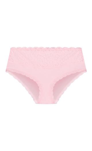 Cotton Hi Waist Brief - baby pink
