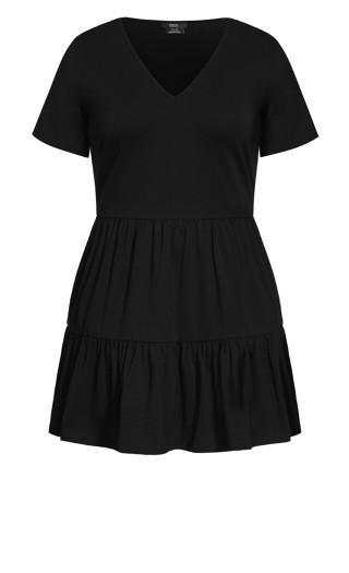 Social Tier Dress - black