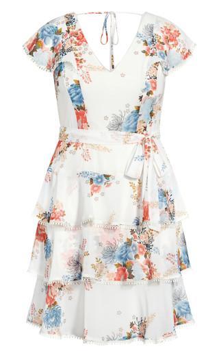 Poised Bloom Dress - ivory