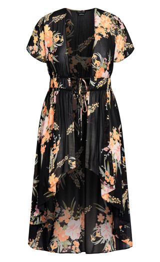 Grand Floral Jacket - black