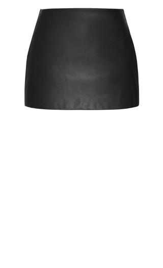 Sleek Love Skirt - black