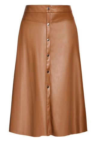 On Point Skirt - cognac