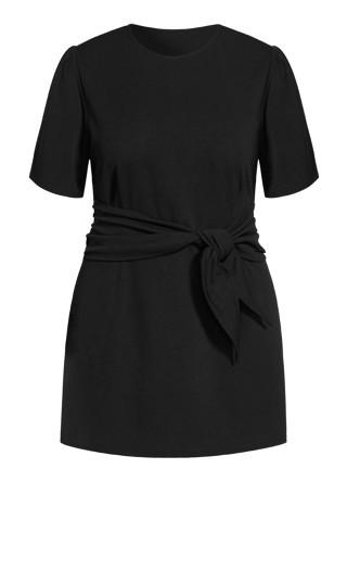 Tie Point Dress - black