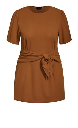Tie Point Dress - fudge