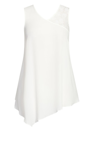 Double Lace Top - ivory