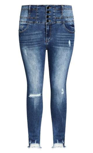 Asha Trail Blazer Jean - mid denim