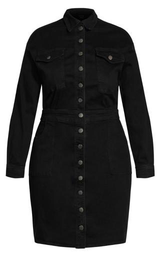 Denim Rider Dress - black wash